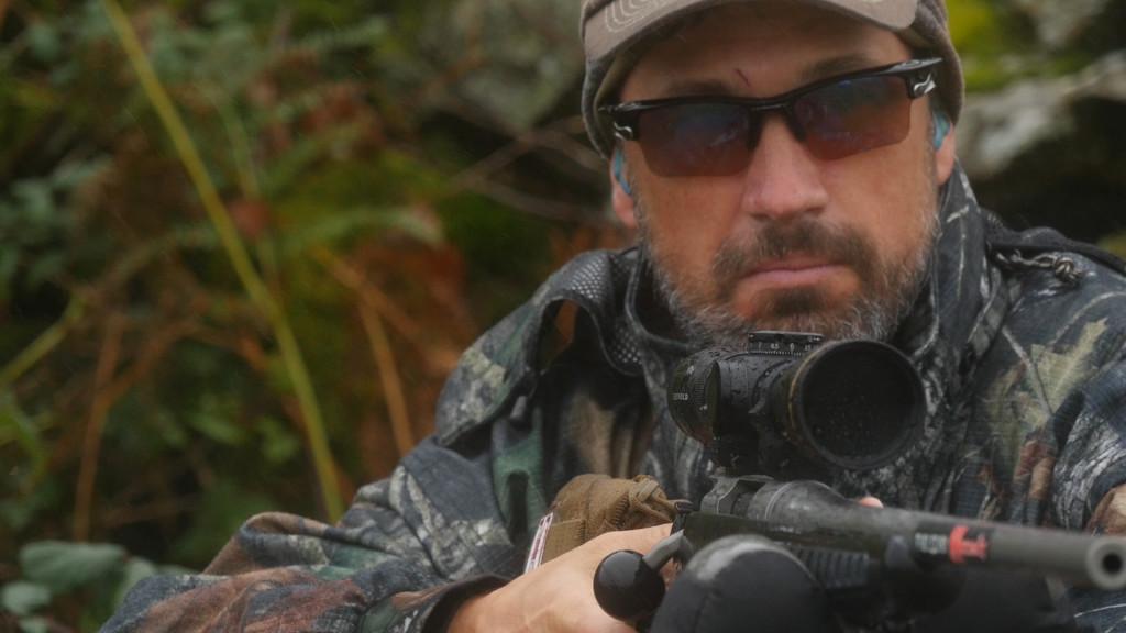 Doug sighting in his Thompson Center Venture Rifle