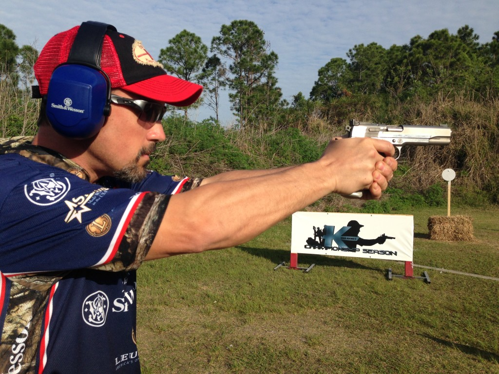 Doug Koenig takes aim at the 2014 U.S. National Steel Championships
